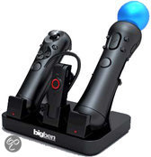 Bigben 3-in-1 Oplaadstation Zwart PS3