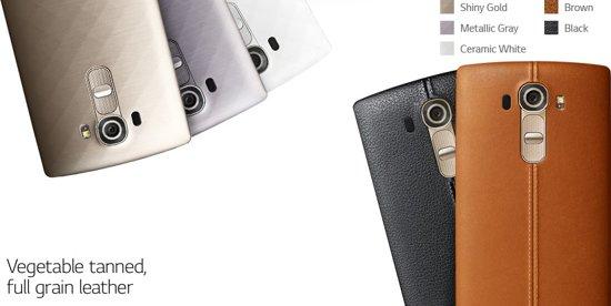 LG G4 verschillende kleuren