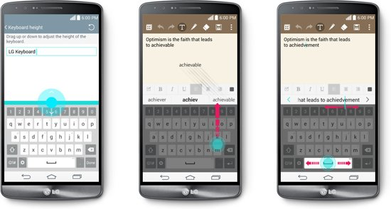 LG G3 slim toetsenbord