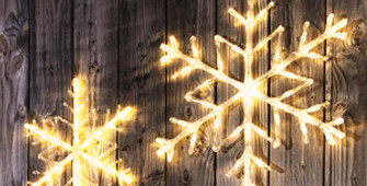 Verlicht kerstfiguur
