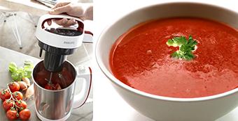 Verse soep uit de soepmaker