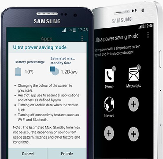 Samsung Galaxy A5 Batterijverbruik