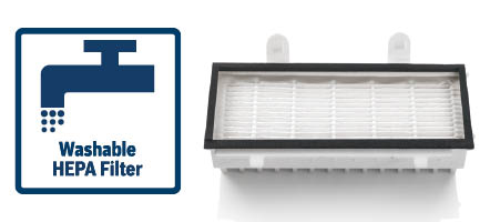 Bosch stofzuigers in'genius afspoelbare hepa filter