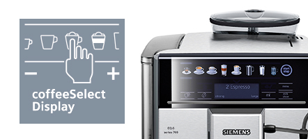Siemens espressomachine coffeselect display