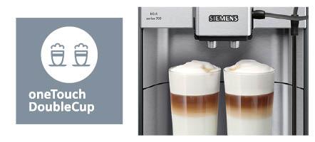 Siemens Espressomachine EQ6 doublecup