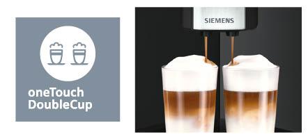 Siemens espressomachine EQ9 onetouch doublecup