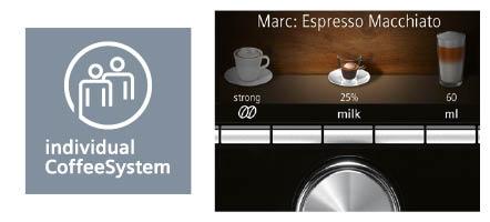 Siemens espressomachine EQ9 personalisatie