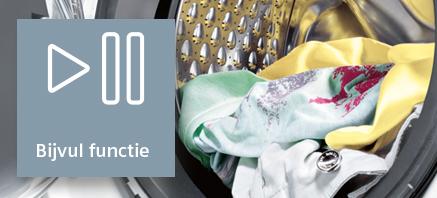Siemens wasmachine bijvul functie