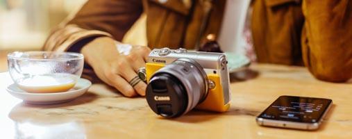 Canon M100 sharing