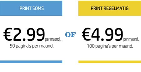 HP Instant Ink Advies