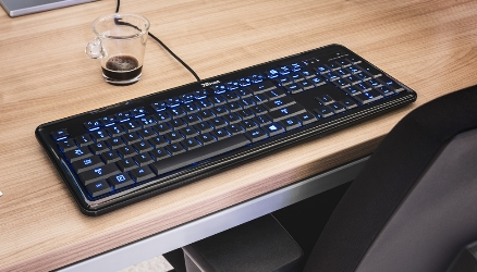 bol.com | Trust Elight - Led Illuminated Toetsenbord - Qwerty