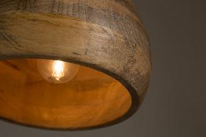 bol.com | Dutchbone Woody - Hanglamp - Bruin