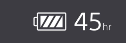 45 uur batterijduur