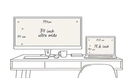 34 inch UltraWide monitor