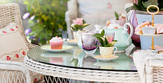 At home tea party