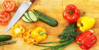 Vegetarisch snijden