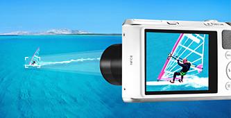 Hi-zoom compactcamera's