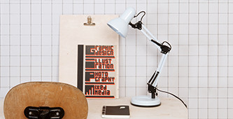 Hippe bureaulampen