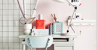Een kleurrijk bureau
