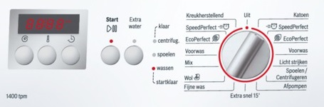 Bosch_wasmachine_WAE28266NL_display