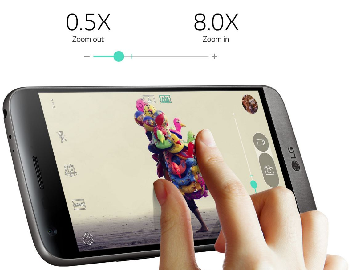 LG G5 in- en uitzoomen