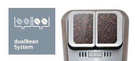 Siemens espressomachine EQ9 dubbel bonenreservoir