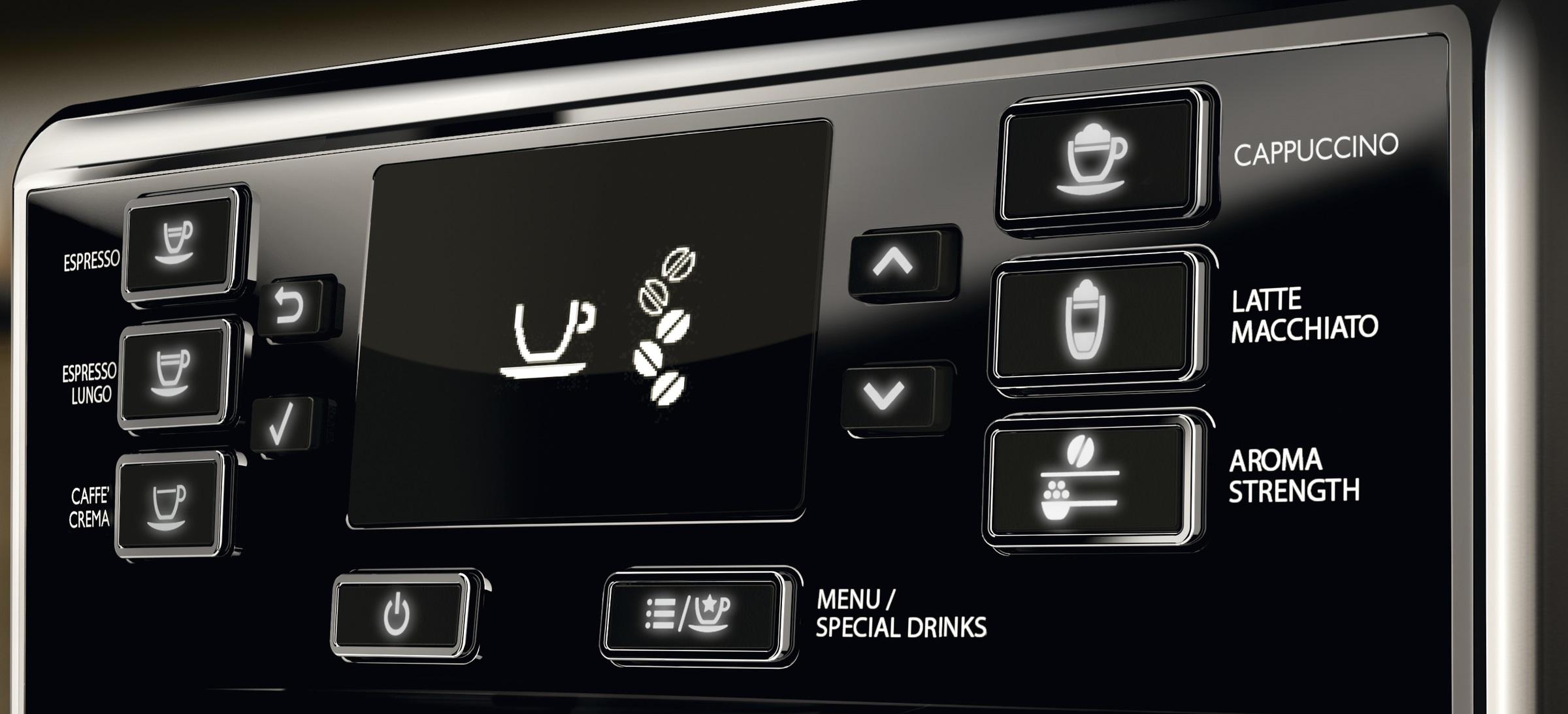Philips espressomachine Saeco display