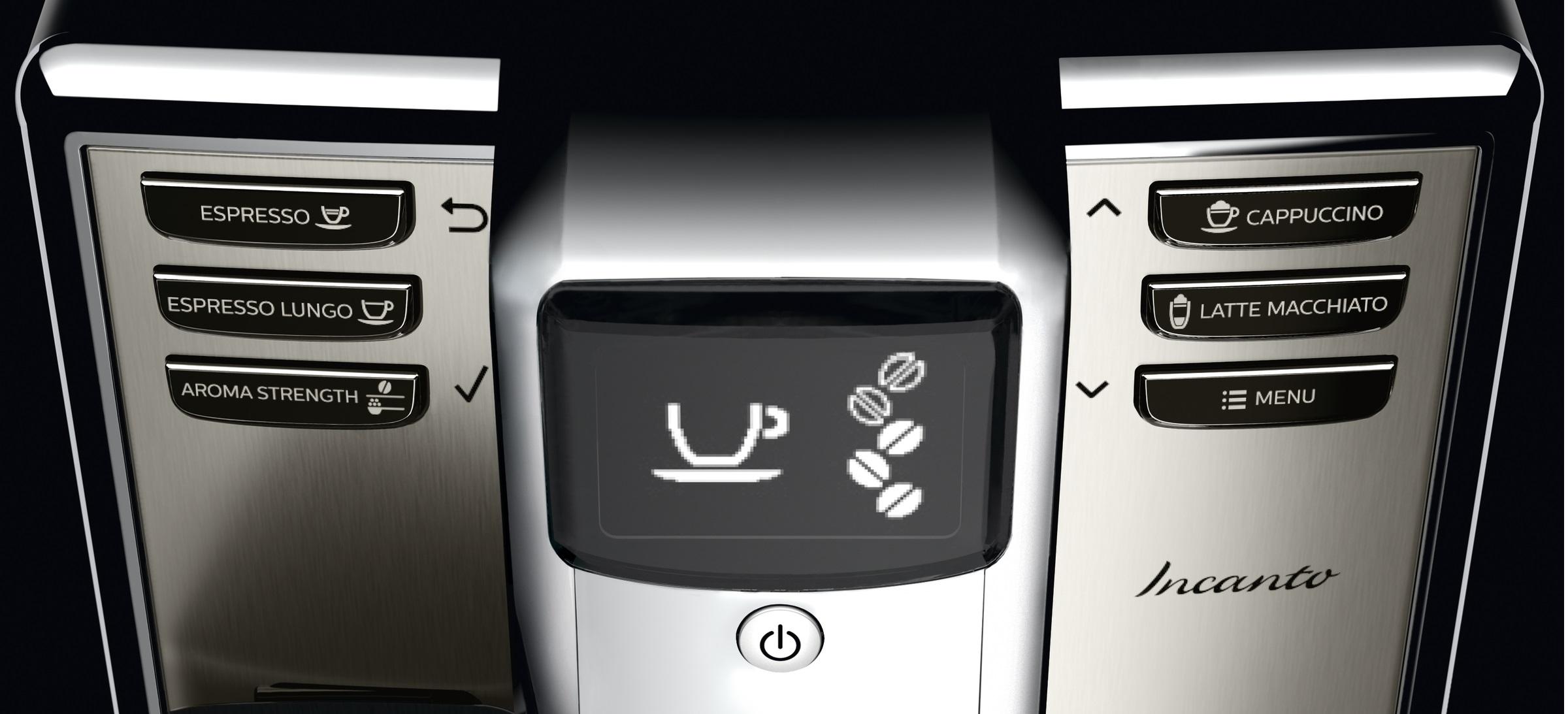 Philips espressomachine Incanto scherm