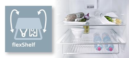 Siemens koelenvriezen flexshelf