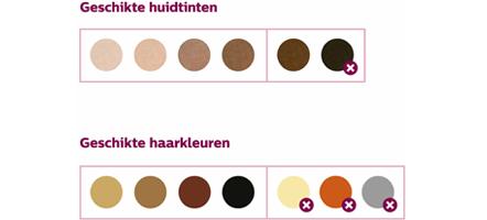 Philips Lumea kleurenschema
