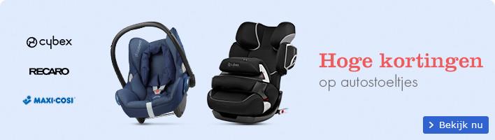 Hoge kortingen op autostoeltjes