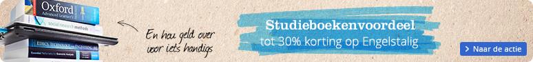 Tot 30% voordeel Engelstalige studieboeken