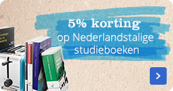 Nederlandstalige studieboeken met 5% korting