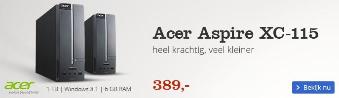 Acer Aspire XC-115 | heel krachtig, veel kleiner