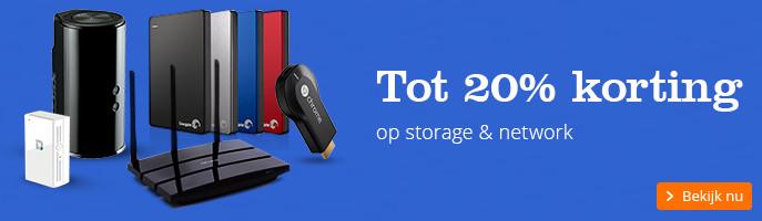 Tot 20% korting | op storage & network