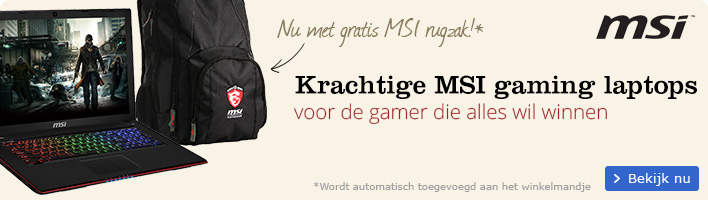 msi gaming laptops nu met gratis msi rugzak