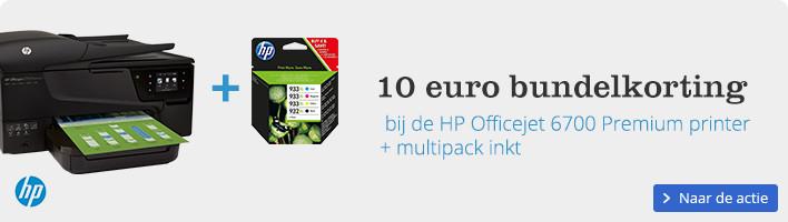 10 euro bundelkorting | bij de HP Officejet 6700 Premium printer + multipack inkt
