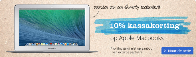 10% kassakorting op Apple MacBooks