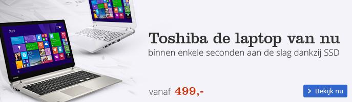 Toshiba de laptop van nu binnen enkele seconden aan de slag dankzij SSD