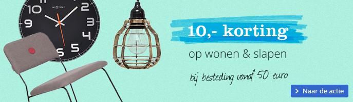 10,- korting op wonen & slapen