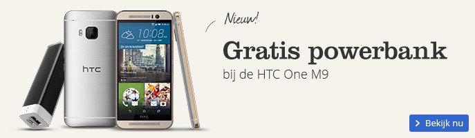 Gratis powerbank | bij de HTC One M9