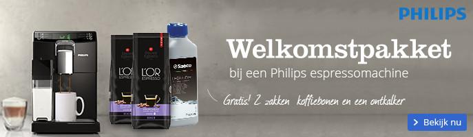 Gratis welkomstpakket | bij een Philips espressomachine