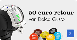 50 euro retour op alle Dolce Gusto machines