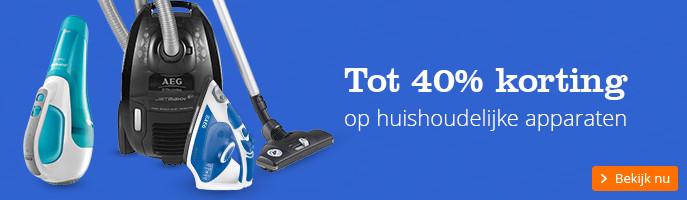 Tot 40% korting op huishoudelijke apparaten