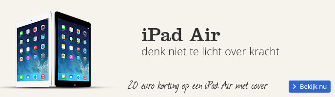 iPad Air denk niet te licht over kracht