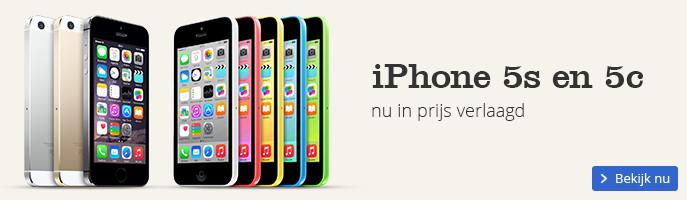 iPhone 5s en 5c nu in prijs verlaagd