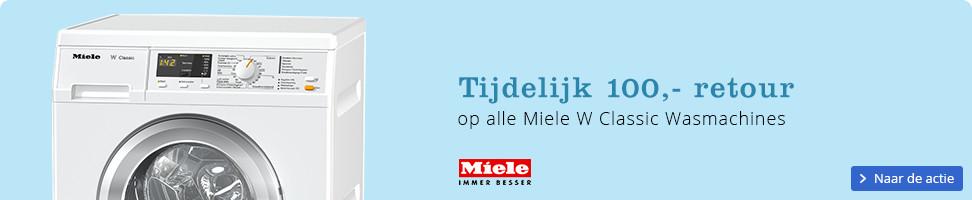 Tijdelijk 100 euro retour op alle Miele W Classic wasmachines