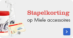 Stapelkorting op Miele accessoires