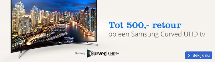 Tot 500,- retour op een Samsung Curved UHD tv