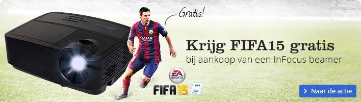 Krijg FIFA15 gratis bij aankoop van een InFocus beamer